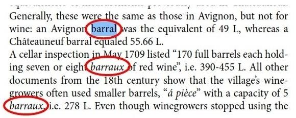 Source: The Châteauneuf du Pape Wine Book , Harry Karis.