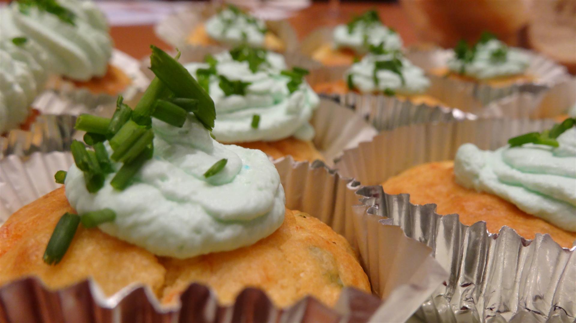 photo des cupcakes de fête salés