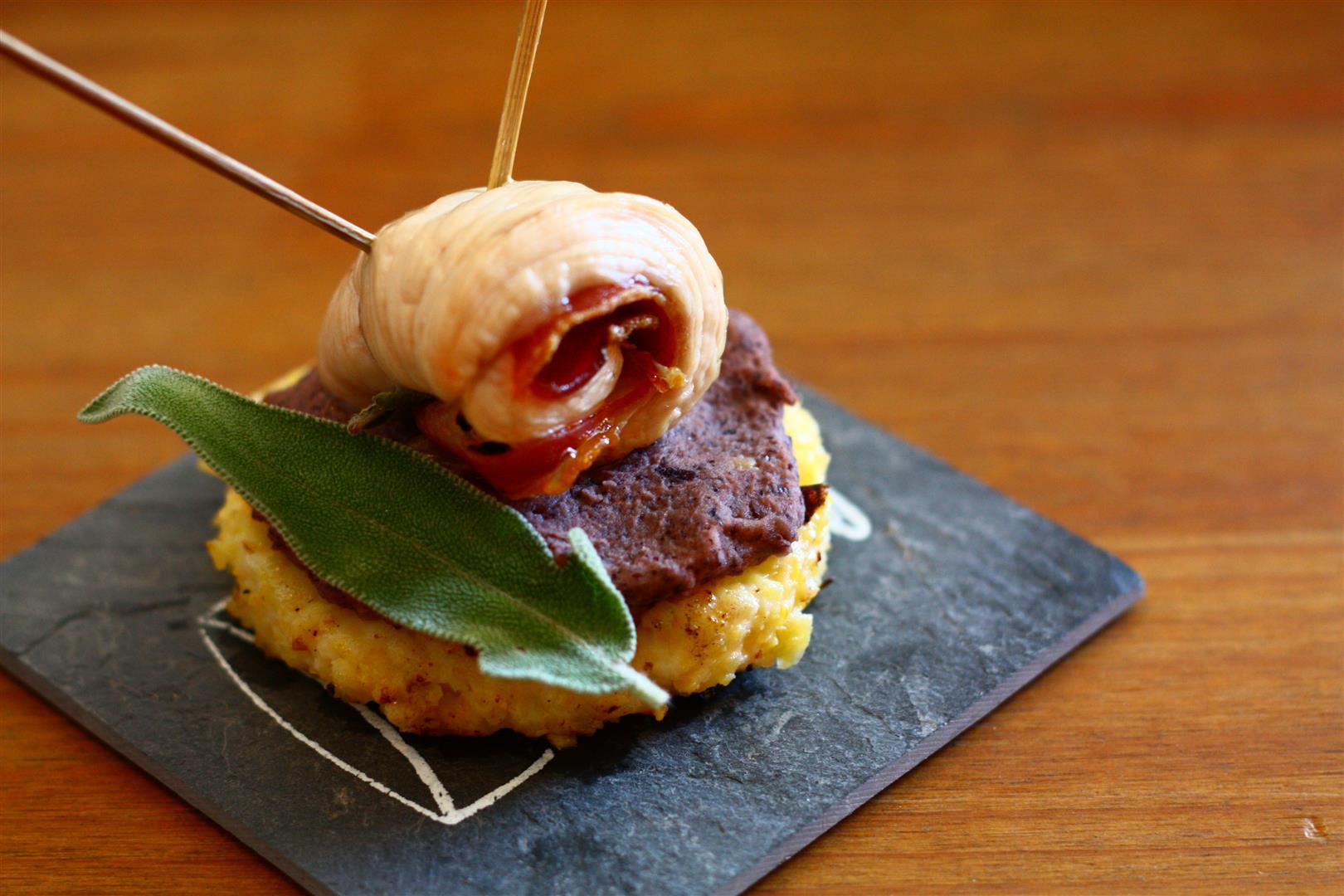 Photo des tapas de dinde et polenta