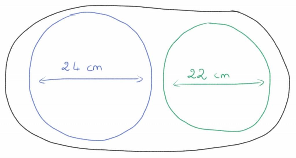 schéma du découpage des cercles de pâte feuilletée