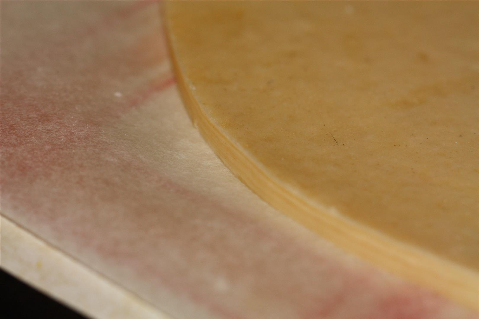 zoom sur les couches de pâte feuilletée