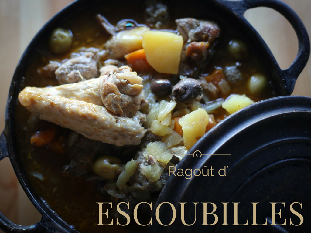 "A typical dish from the Languedoc: ""ragoût d'escoubilles"" (leftovers casserole)"