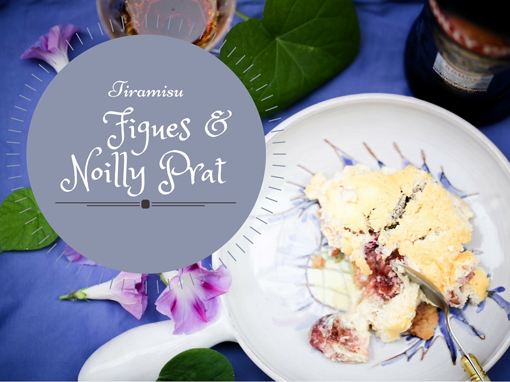 Tiramisu aux figues rôties au miel et Noilly Prat