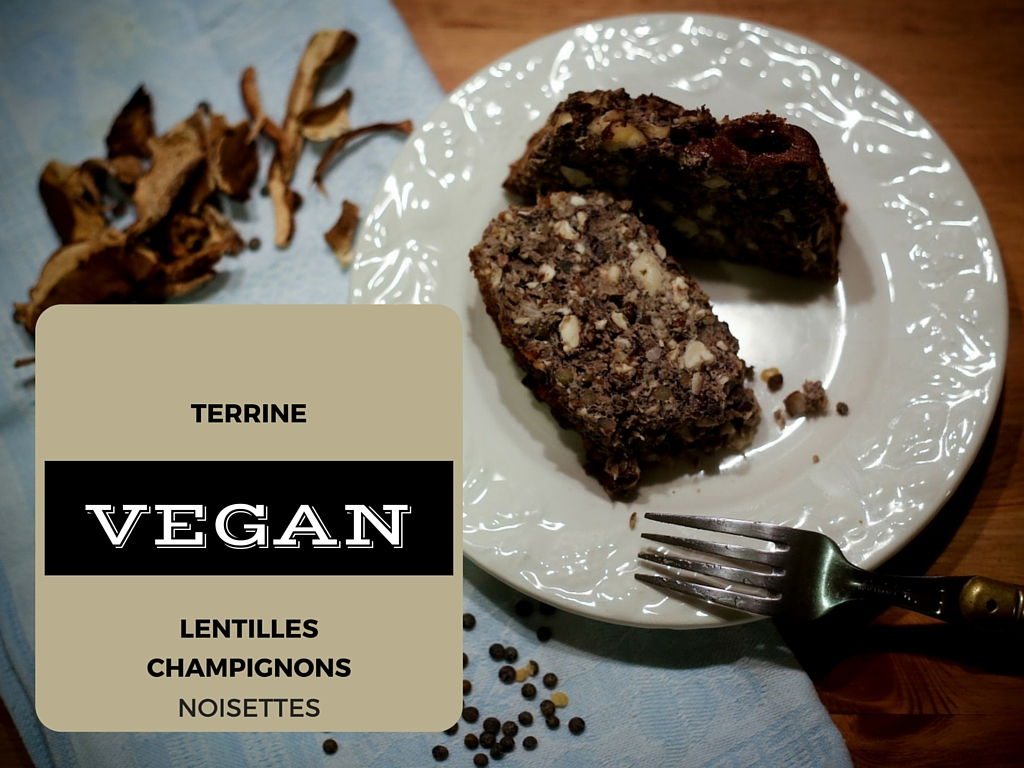 (English) Vegetarian Lentil, Mushroom & Hazelnut Terrine