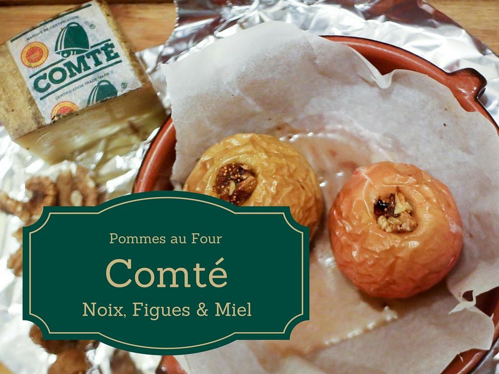 photo de deux Pommes au Four, comté, noix, figues et miel