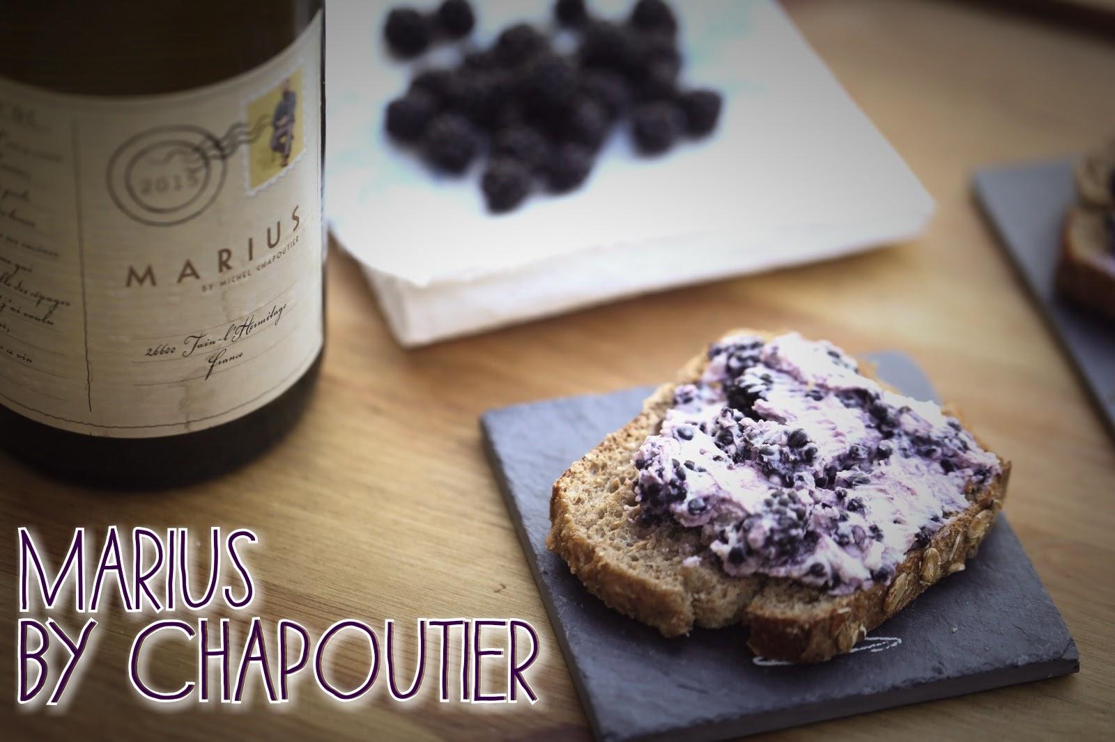 1 recette 1 vin : Tartines chèvre/mûre + Marius by Chapoutier