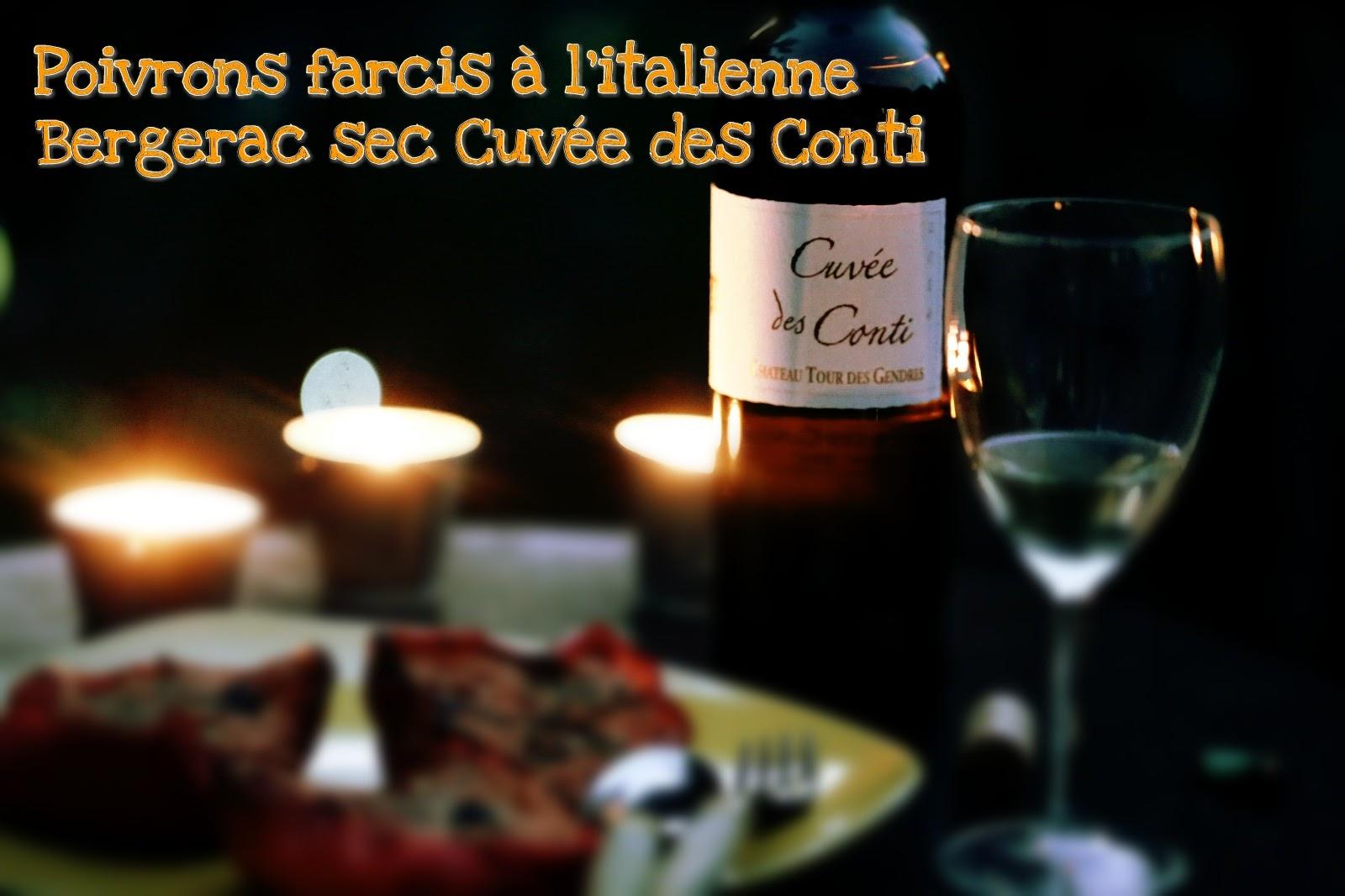 poivrons farcis italienne bergerac sec cuvee des conti chateau tour des gendres