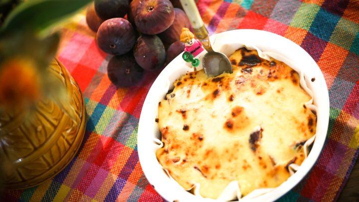 Figs & Feta cheese gratin